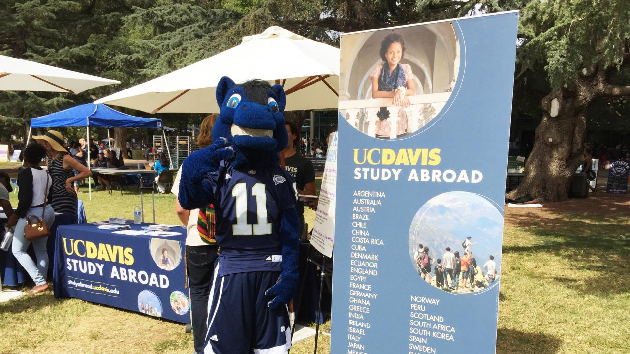 Gunrock at the Study Abroad Fair